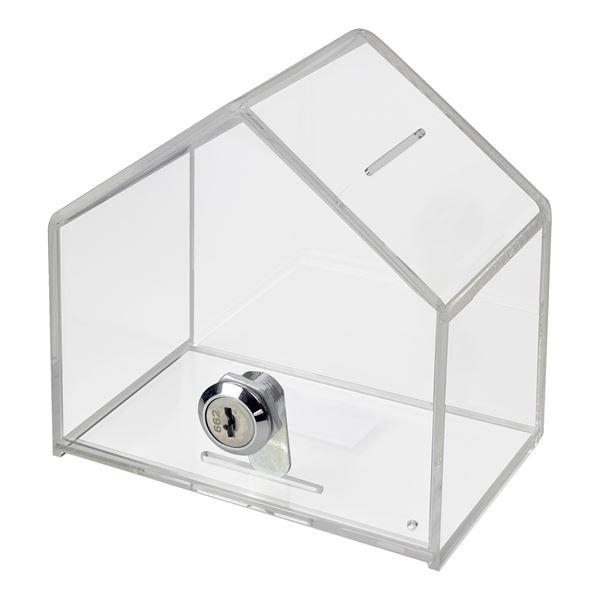 acrylbox spendenbox haus acryl 13 8 x 9 x 12 5 cm kaufen. Black Bedroom Furniture Sets. Home Design Ideas