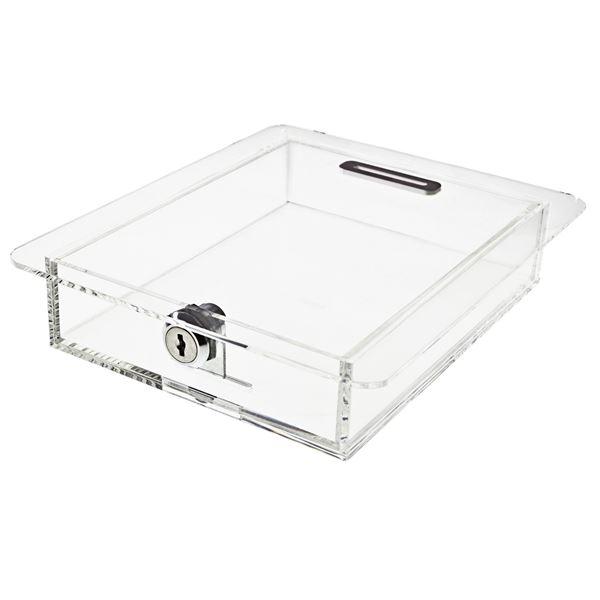 Acrylbox, Spendenbox Tellerl, 4,5 x 21,5 x 18 cm