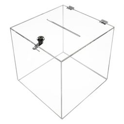 Acrylbox, Spendenbox Würfel, 25 x 25 x 25 cm