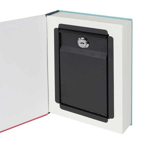 Buchtresor, Buchattrappe mit Papierseiten, Modell Spanien, 23 x 15 x 4 cm