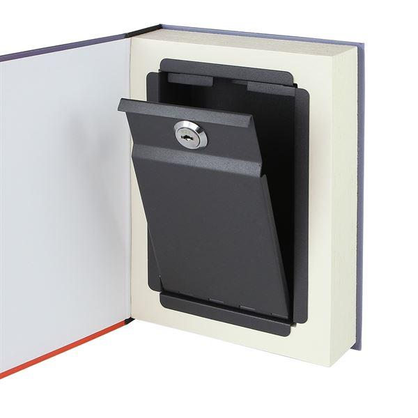 Buchtresor, Buchattrappe mit Papierseiten, Modell Deutschland, 23 x 15 x 4 cm