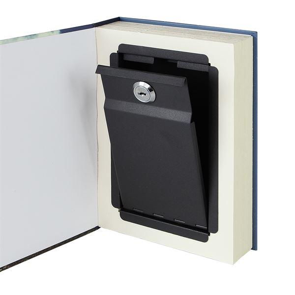 Buchtresor, Buchattrappe mit Papierseiten, Modell Frankreich, 23 x 15 x 4 cm