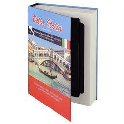 Buchtresor, Buchattrappe mit Papierseiten, Modell Italien, 23 x 15 x 4 cm