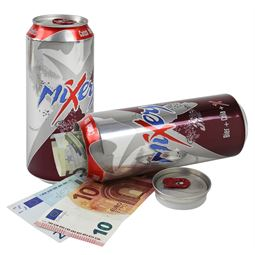 Geldversteck Dosentresor Safe Mixery Bier+Cola+X Drink, 16 x 6,5 cm