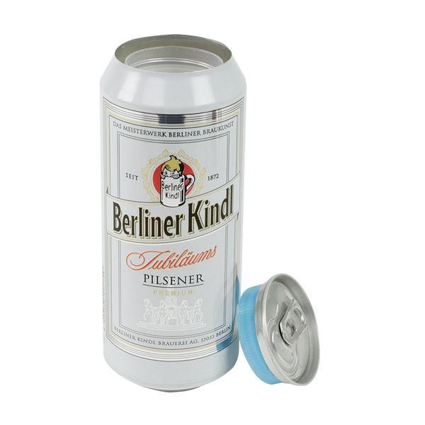 Geldversteck, Dosentresor Safe Berliner Kindl Jubiläums Pilsener, 16 x 6,5 cm