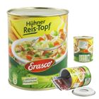Geldversteck Dosentresor Safe Erasco Hühner Reis-Topf, 12 x 10 cm