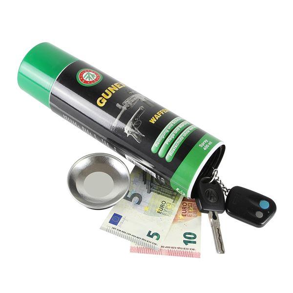 Geldversteck, Dosentresor Safe Gunex Waffenöl, 24 x 6,5 cm