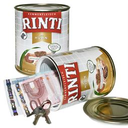 Geldversteck Dosentresor Safe Rinti Hundefutter, 12 x 10 cm