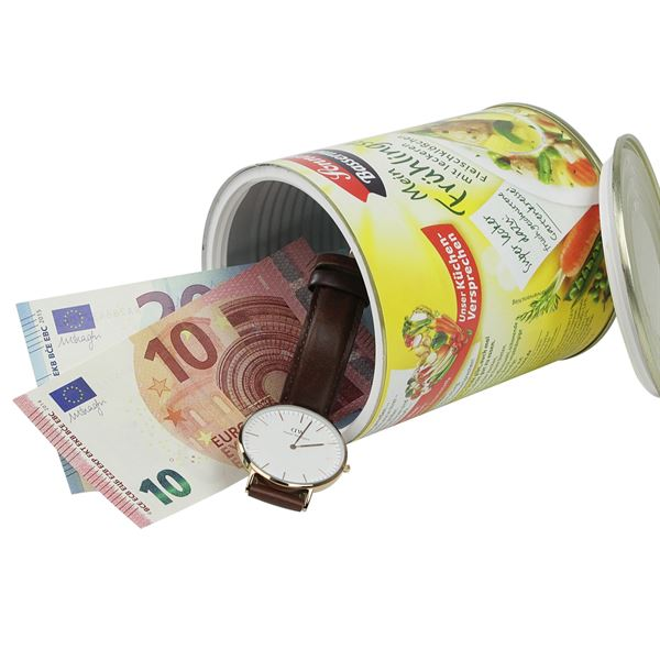Geldversteck, Dosentresor Safe Sonnen Bassermann Mein Frühlingstopf, 12 x 10 cm