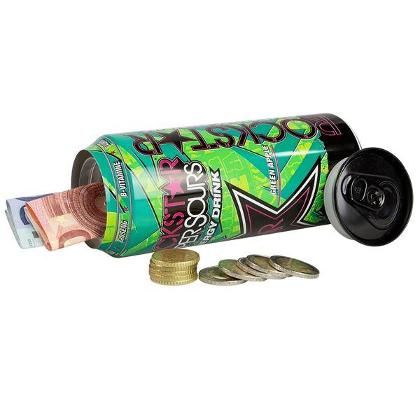 Geldversteck Dosentresor Safe Rockstar Energy Drink, 16 x 6,5 cm