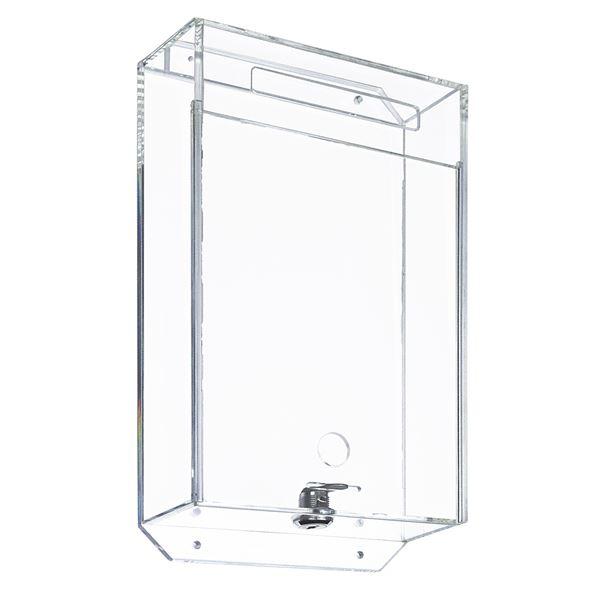 Acrylbox, Spendenbox, Pfandmarkenbox, Meckerkasten, 31,5 x 18 x 7 cm