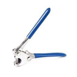 Plombenzange, Plombierzange für Blei- und Kunststoffplomben, 13 cm, blau