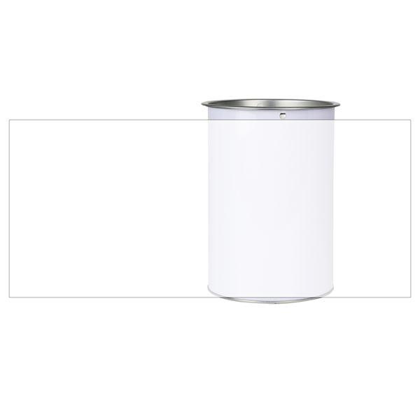 Sammeldose inkl. individuelle Klebefolie, 14,5 x 10 cm, Spendendose, lichtgrau
