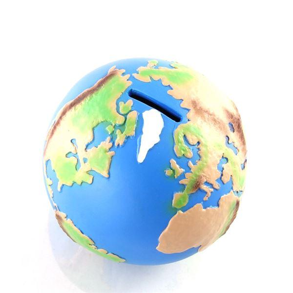 Spardose Globus Welt, Sparbüchse, 12 cm