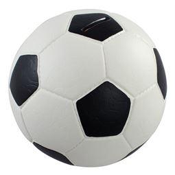 Spardose Fußball Lederoptik, 15 cm