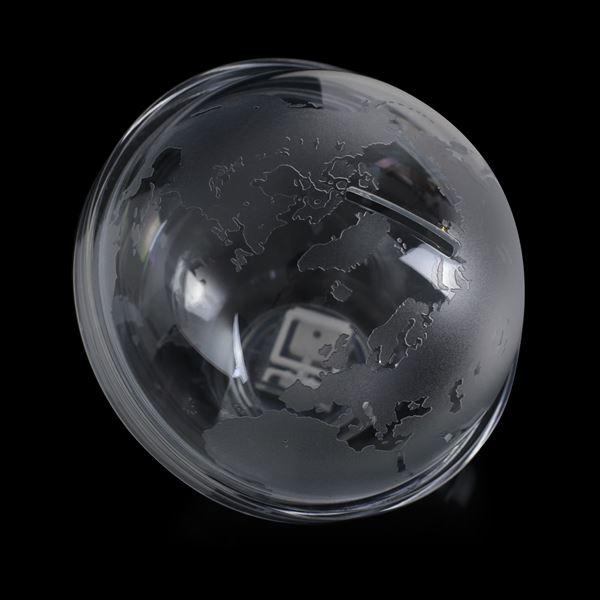Spardose Globus Acryl, 13 cm