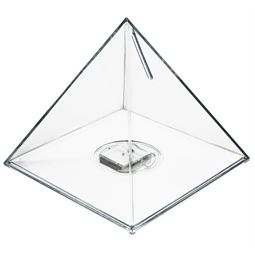 Spardose Pyramide Acryl, 13 x 12 cm