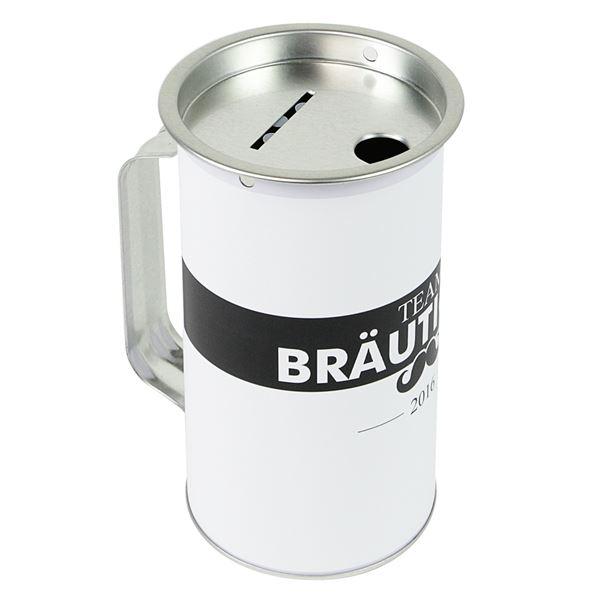 Sammeldose Junggesellenabschied, Team Bräutigam, Spendendose mit Griff, 14,5 x 8 cm